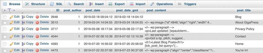 Where Are Wordpress Posts And Pages Stored Gigapress