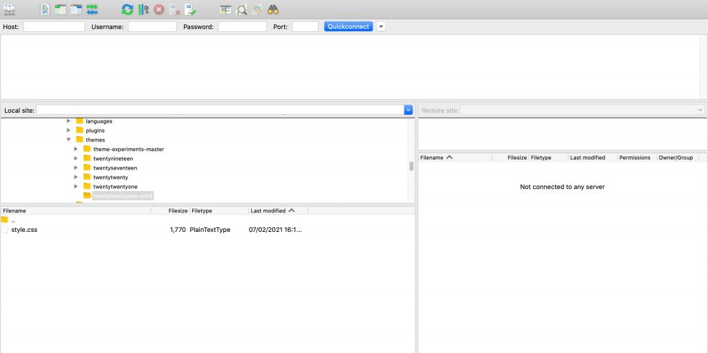 A File Transfer Protocol client.