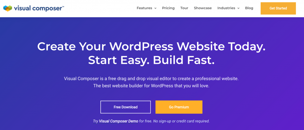 The Visual Composer WordPress page builder plugin.