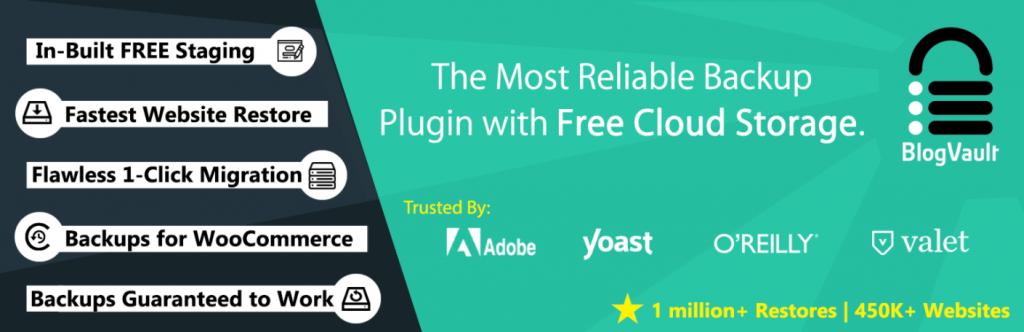 BlogVault's plugin banner.