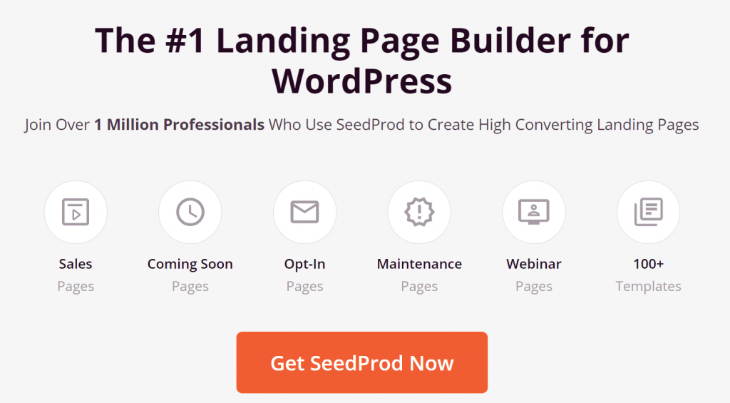 The SeedProd homepage.