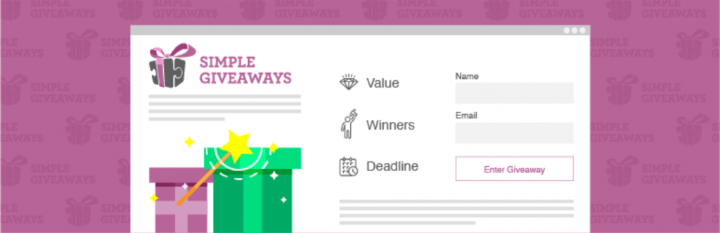 The banner for Simple Giveaways