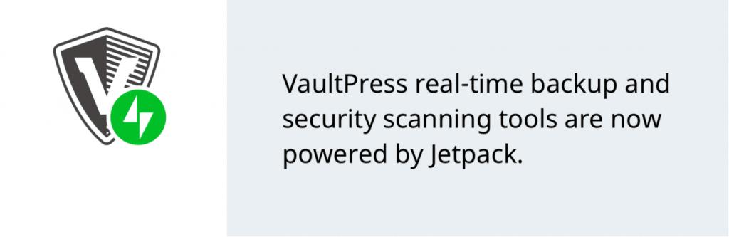 The VaultPress plugin banner.