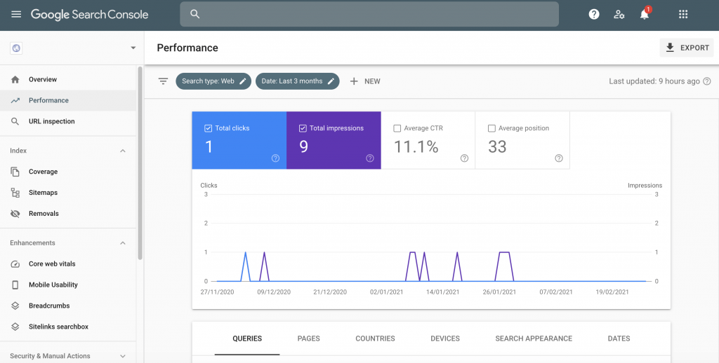 How to monitor your domain name change in the Google Search Console.