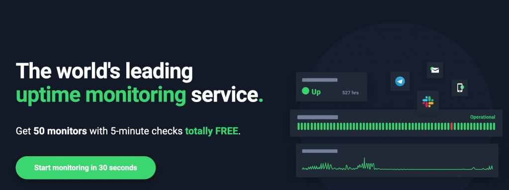 The Uptime Robot monitoring service.