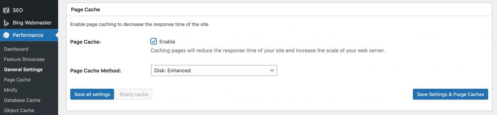 Optimizing a slow WordPress website using caching.