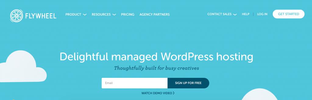 Flywheel managed WordPress hosting.