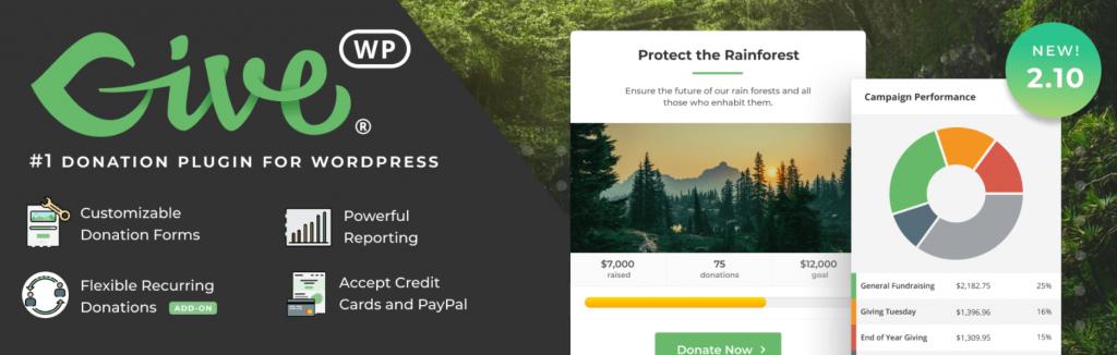 The GiveWP WordPress plugin.