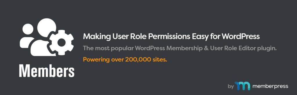 The WordPress Members plugin.
