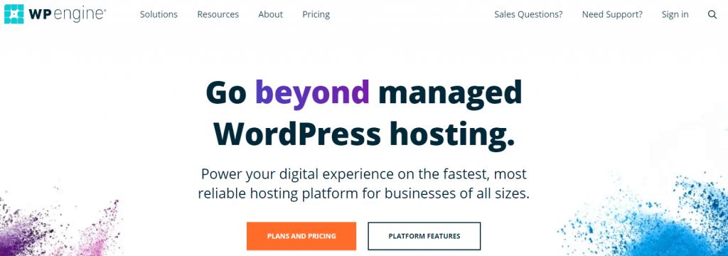 WP Engine Managed WordPress hosting.