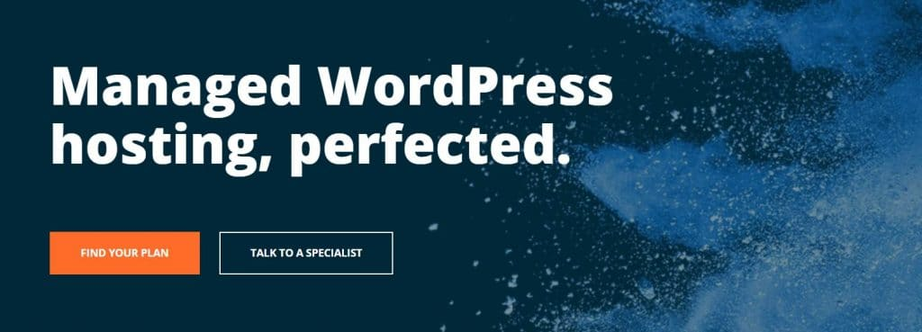 An example of a managed WordPress hosting service
