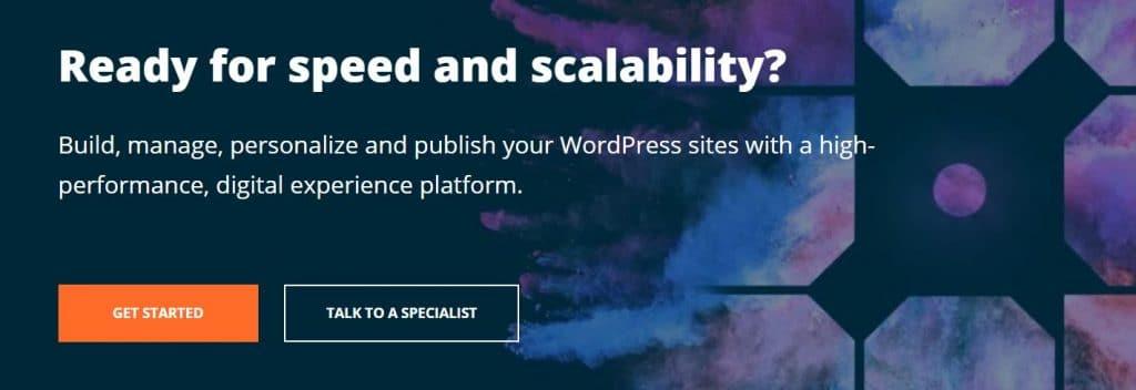 Managed WordPress hosting plan offering high-performance