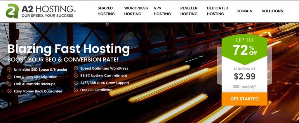 A2 Hosting offers web hosting for multiple sites.
