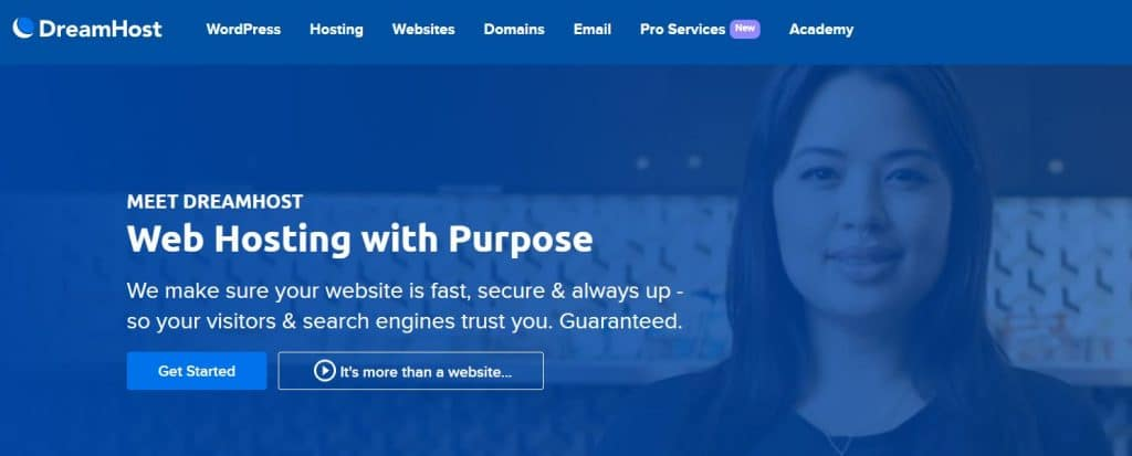 DreamHost offers shared and WordPress hosting for multiple sites.