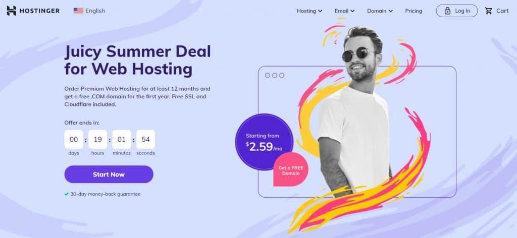 Hostinger offers affordable hosting plans for multiple sites.