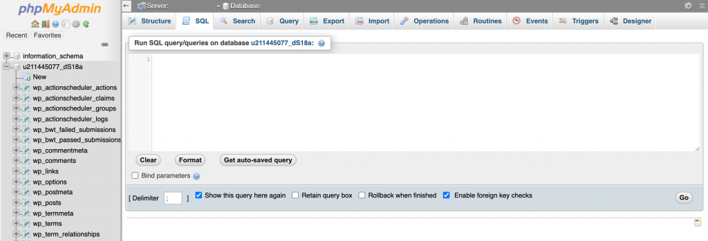 The phpMyAdmin tool can help you resolve the following message: Error Establishing a Database Connection.