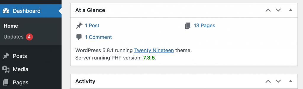 The Display PHP Version plugin.