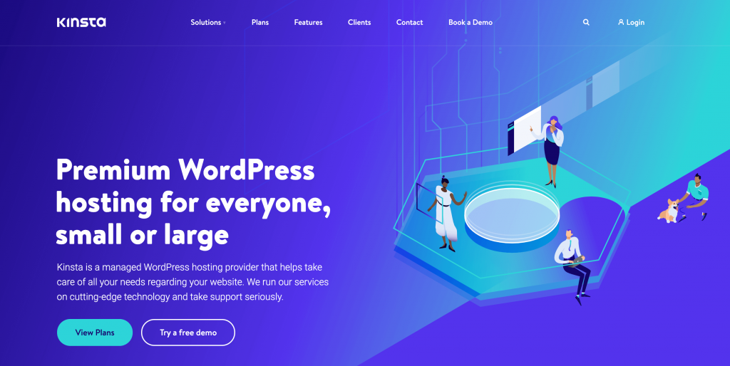 Kinsta is a hosting provider that caters to high-traffic sites.